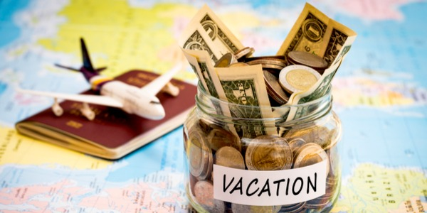 A jar full with money for vacation