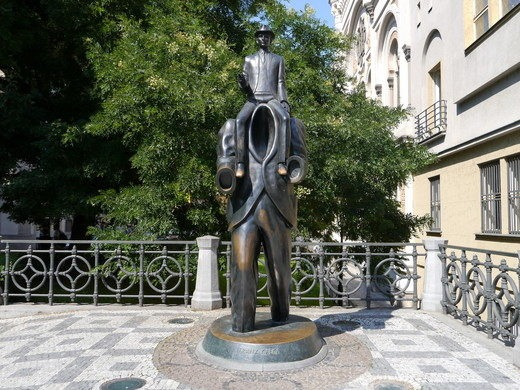 Statue of Kafka in Prague