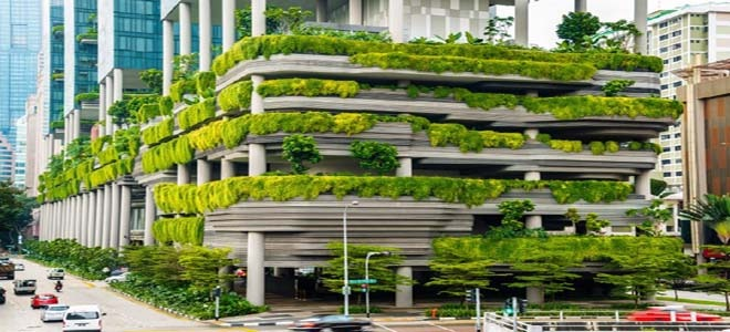 The famous terraces in Singapore