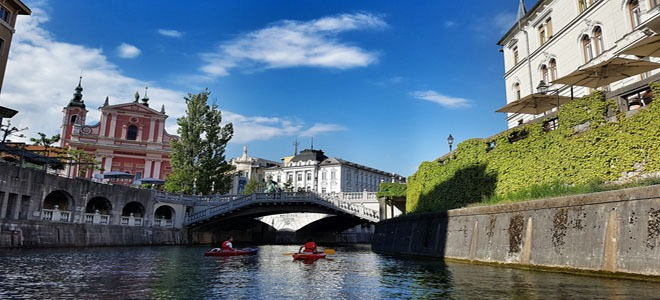 The triple bridge in Ljubljana