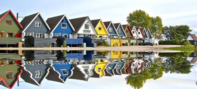 Houses in Odense, Denmark