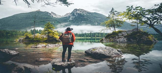 Solo travel in nature