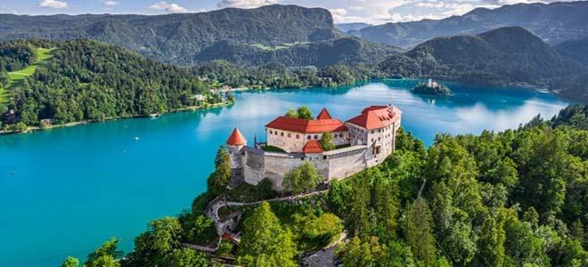 A lake in Slovenia