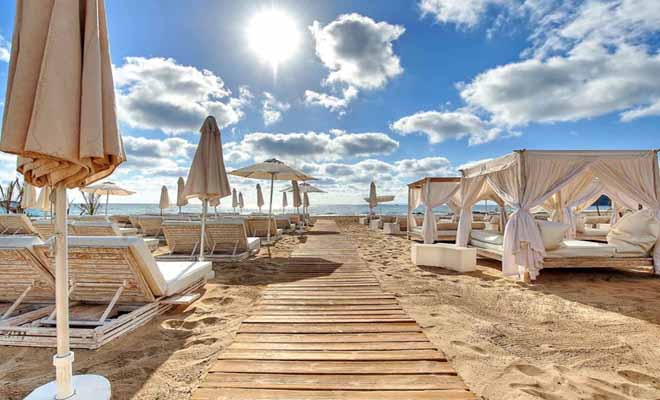Playa d'en Bossa beach Ibiza