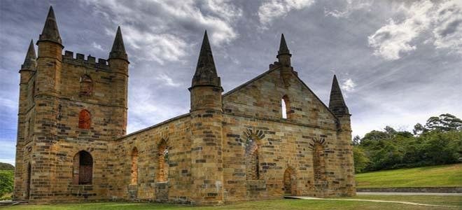 Old church in Port Arthur